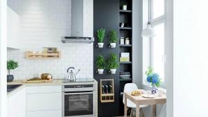 Projekt wnętrza kuchni - mieszkanie we Wrocławiu