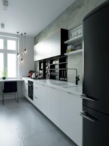 Projekt wnętrza mieszkania w Nysie - Kuchnia