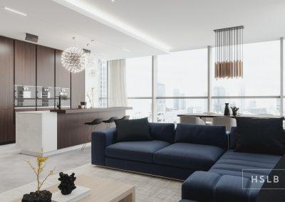 Projekt wnętrza - apartament w Warszawie
