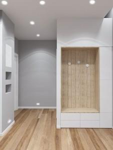 Projekt wnętrza korytarza - mieszkanie we Wrocławiu