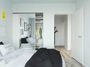 Projekt wnętrza sypialni w apartamencie