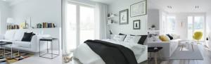 Projekty wnętrz salonu i sypialni