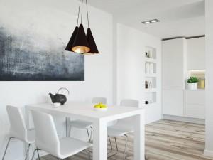 Projekt wnętrza jadalni - apartament w Warszawie