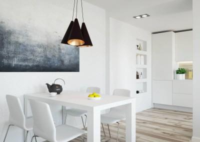 wnetrze_jadalProjekt wnętrza jadalni - apartament w Warszawienia_1