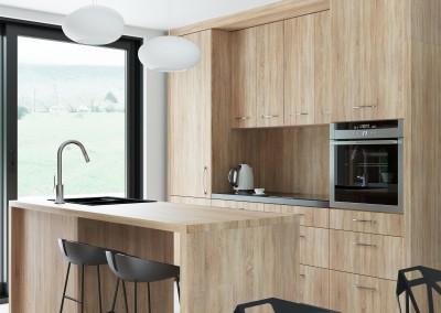 Projekt wnętrza kuchni w domu jednorodzinnym - Wrocław