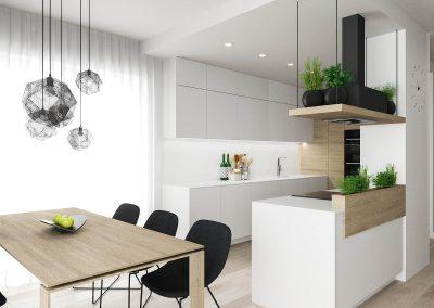 Projekt wnętrza domu pod Wrocławiem - Kuchnia